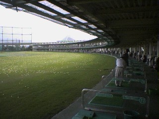 Huge 200-slot driving range in Yokosuka