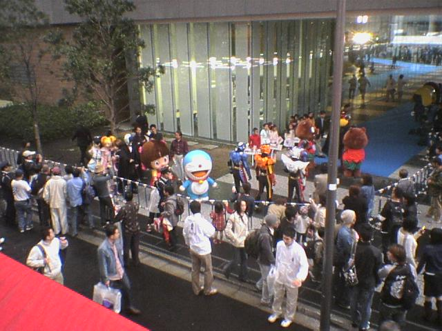 Doraemon et al on parade in Akihabara