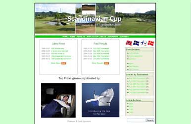 Screenshot of Scandinavian Cup Homepage